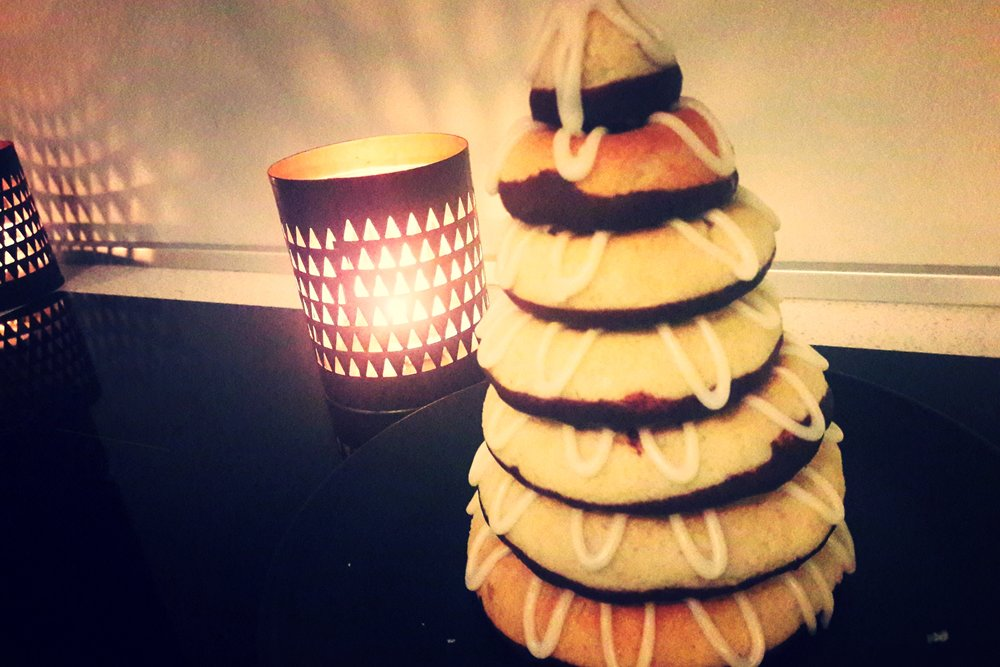 Kranskage - to be eaten at midnight it is a traditional Danish marzipan cake