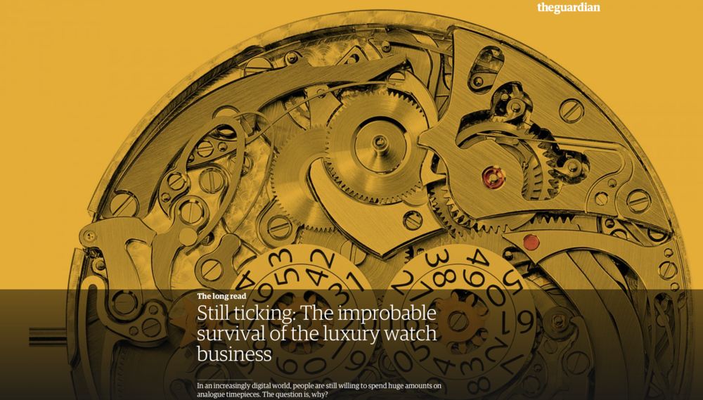 Interesting article from the Guardian concerning the Watch Industry.