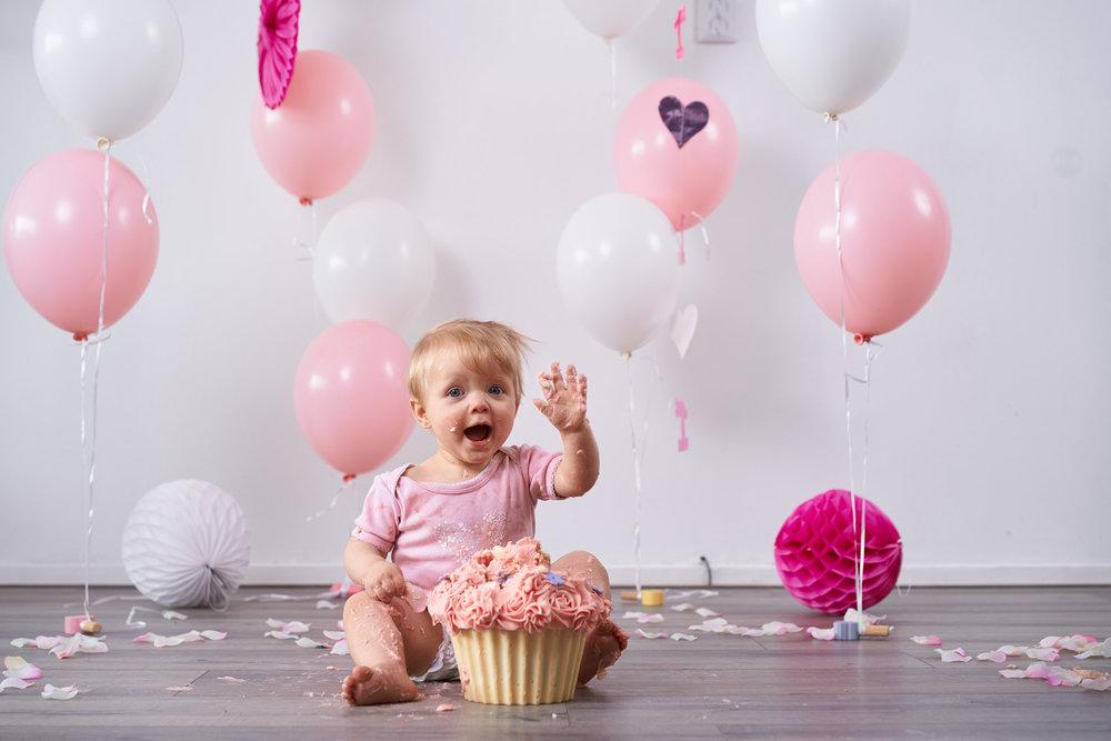 Super Cakesmash voor kinderen van 1 jaar — Familieshoot.nl @PH53
