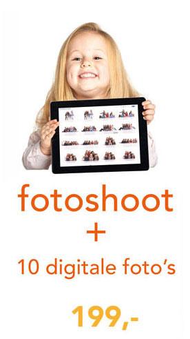 fotoshoot + 10 digitale foto's voor 199,-