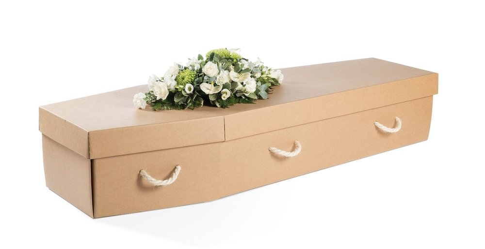 The 'Manilla Cardboard Eco Coffin' is the most popular choice at online funeral product retailer  Willow .