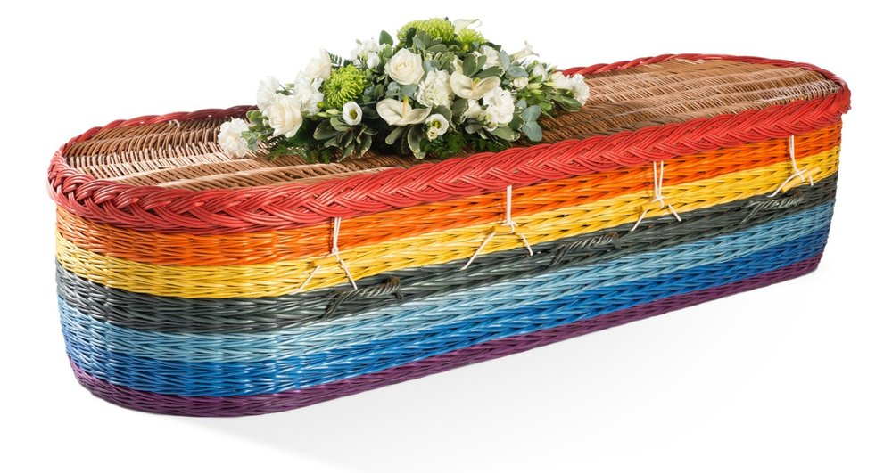 English Willow Rainbow Coffin - available from thinkwillow.com