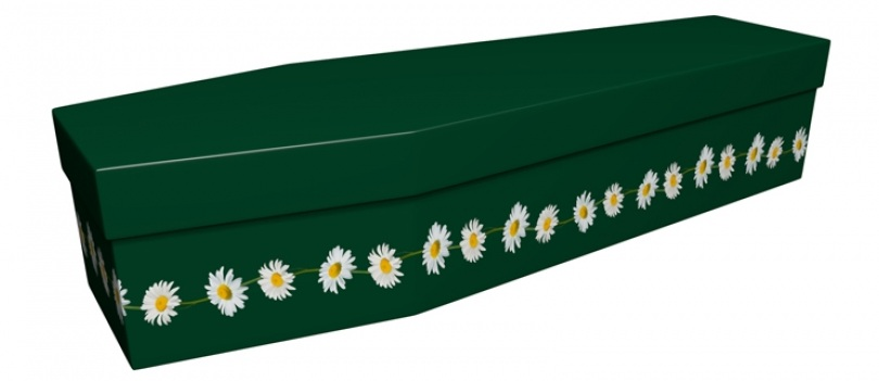 British Green Daisy Chain Coffin - Available from Greenfield Coffins *