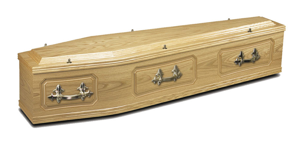 Wood Effect Coffin