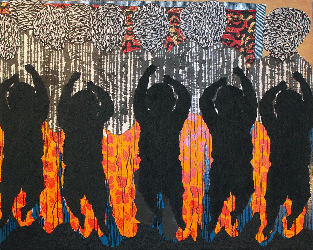 "Bois Caïman (2017)   48""x60"""
