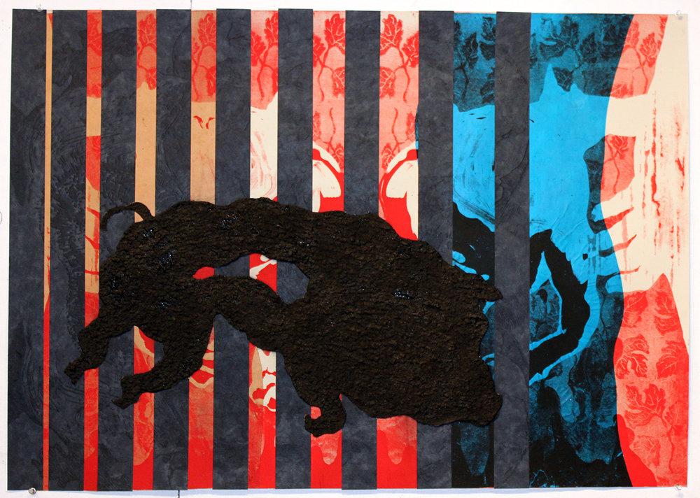 """Azil Politik / Political Asylum (2017)   26""""x36"""""""