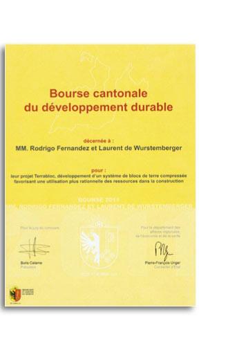 bourse cantonale du développement durable