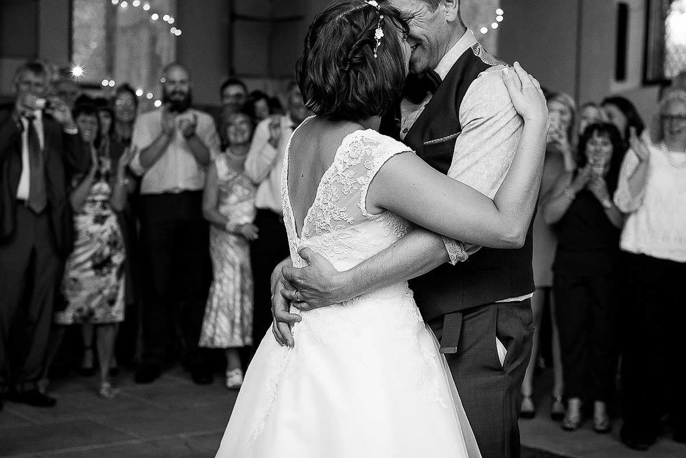 Couple sharing their first dance
