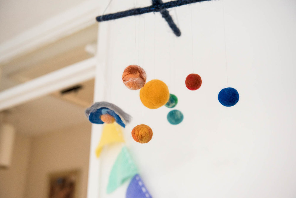 Baby mobile, room decor. Jessica Grace Photography