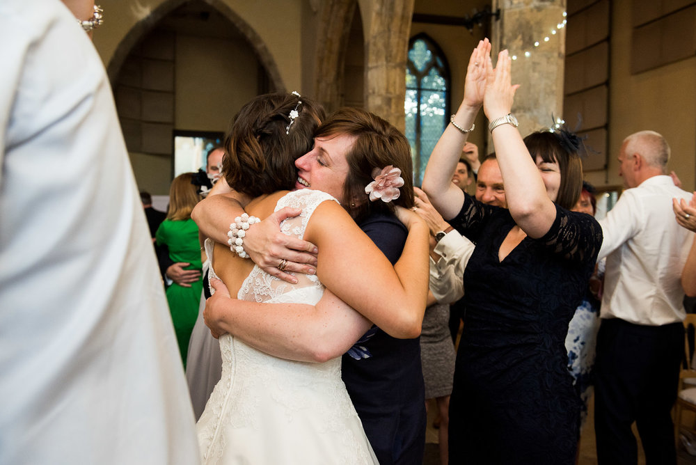 Congratulating the bride after the first dance. © Jessica Grace Photography