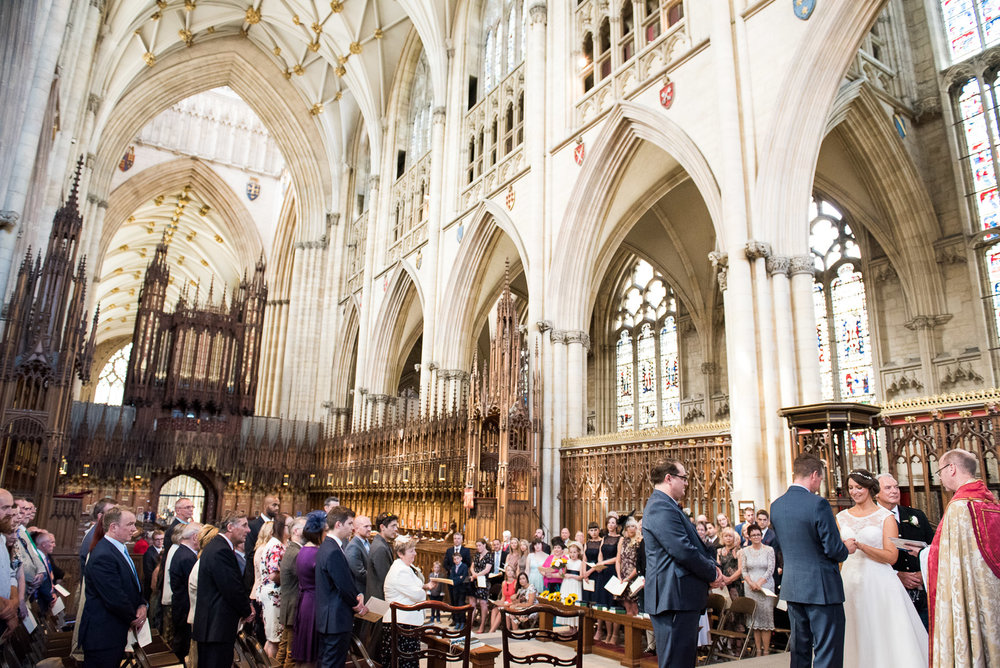 Elegant and beautiful wedding at the York Minster. © Jessica Grace Photography