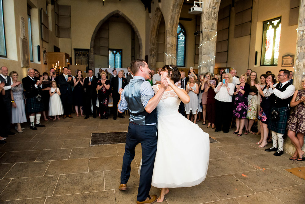 Fun and lively first dance at The National Centre for Early Music, York