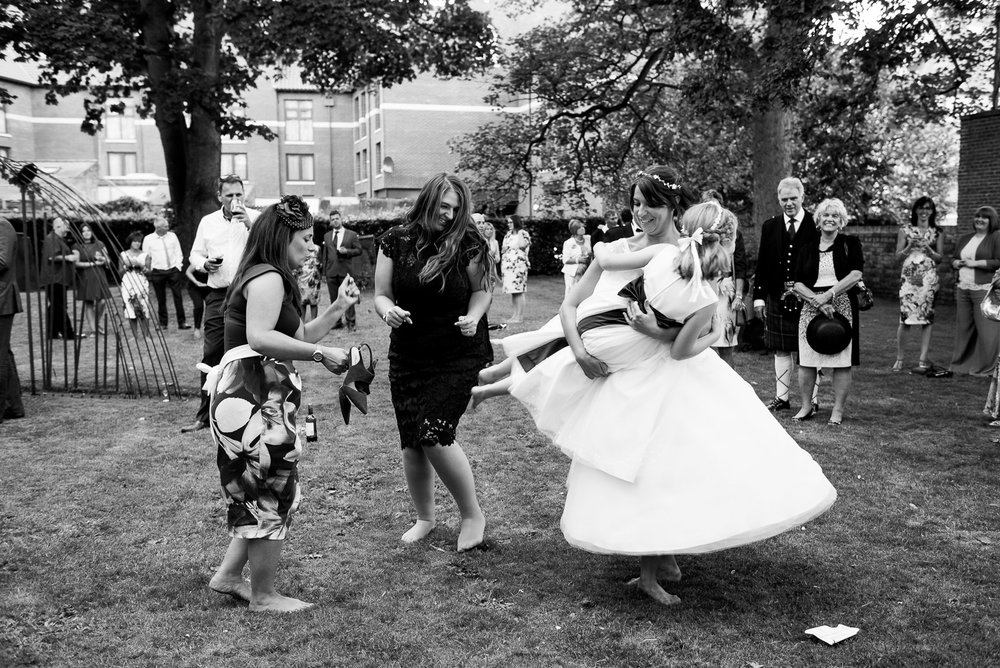Captured moment - dancing barefoot to live music in the gardens of the National Centre for Early Music, York. © Jessica Grace Photography