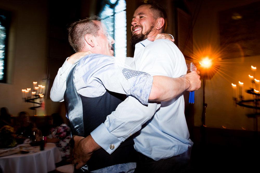 Enthusiastic fun lively wedding dance floor, York wedding. © Jessica Grace Photography
