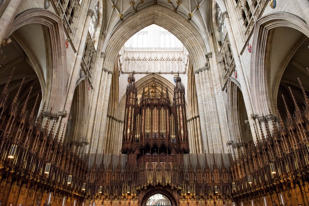 Gorgeous interior architecture for York Minster wedding.