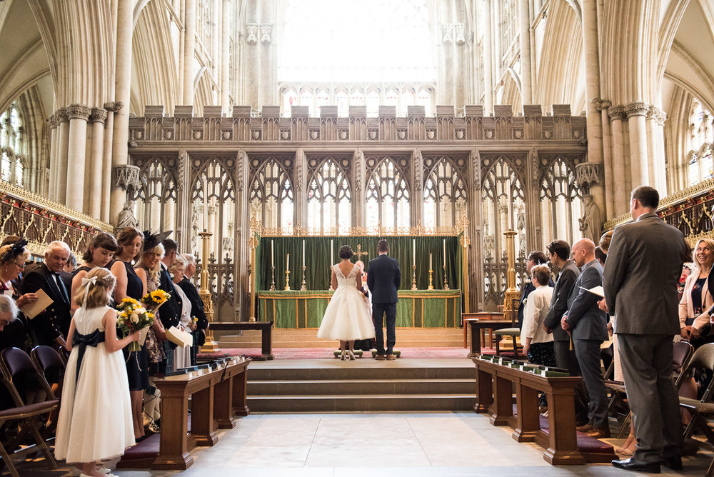 Gorgeous wedding at the York Minster. © Jessica Grace Photography