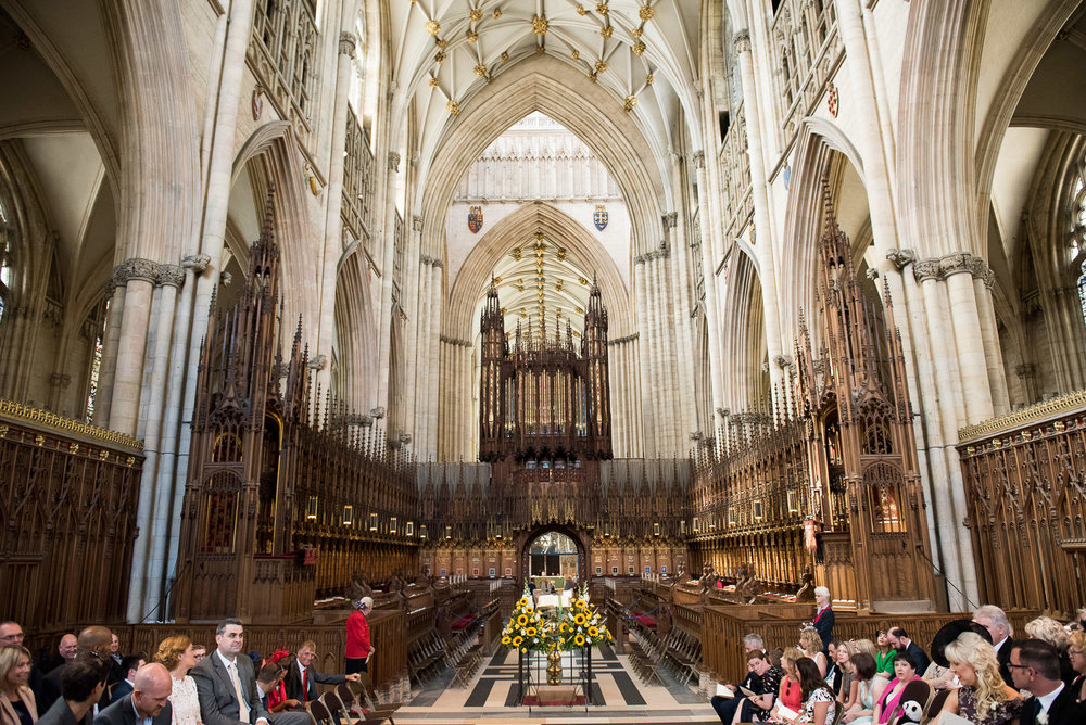 Gorgeous and elegant wedding setting in the York Minster. © Jessica Grace Photography