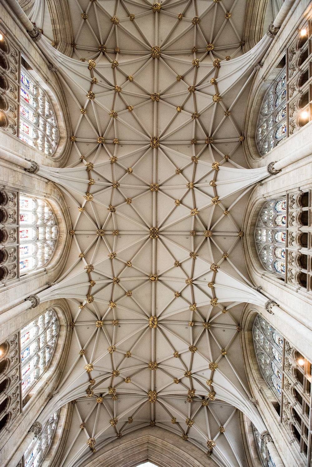 Architecture inside the York Minster. © Jessica Grace Photography