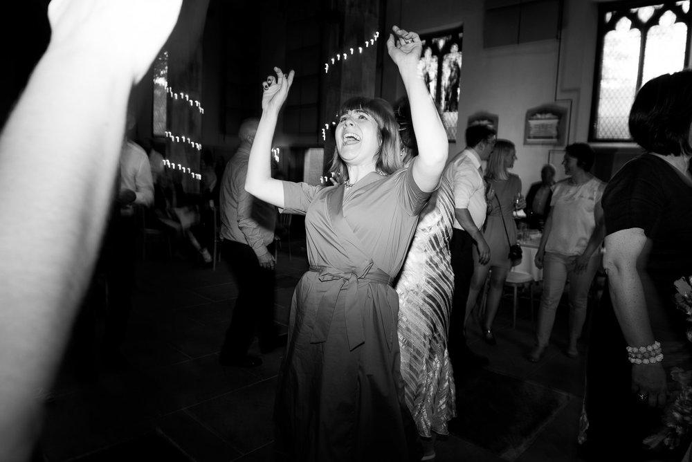 Fun and creative dance floor wedding photography. © Jessica Grace Photography