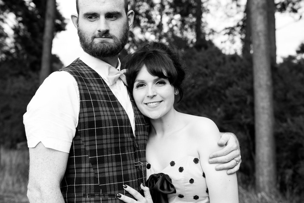 Black and white wedding portrait - natural wedding photographer, Surrey © Jessica Grace Photography
