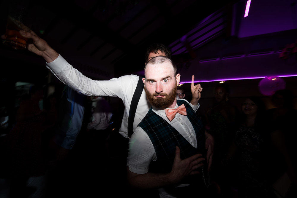 Quirky dance floor wedding photography, Surrey © Jessica Grace Photography
