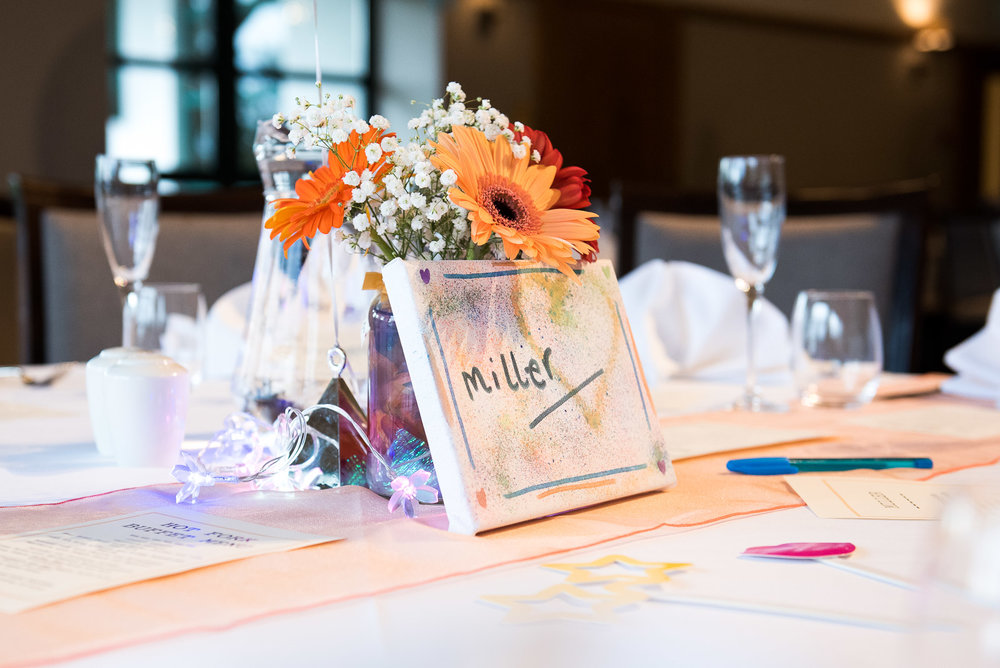 Handmade DIY table settings at Camberley Heath Golf Club © Jessica Grace Photography