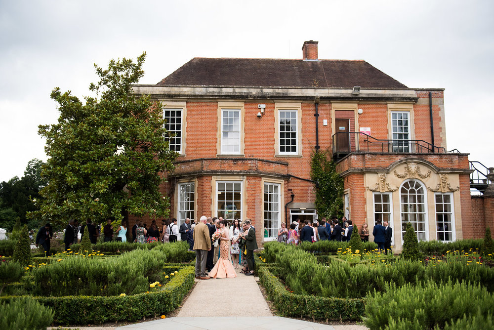 Beautiful wedding reception at Wilde Theatre venue, Surrey © Jessica Grace Photography