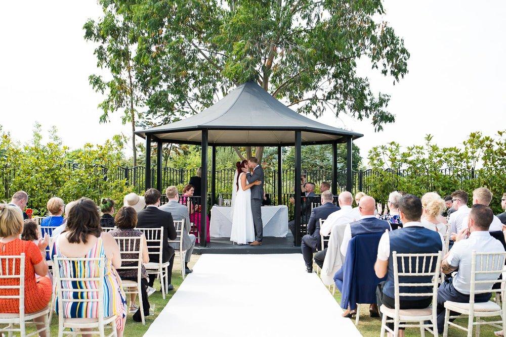 Outdoor wedding ceremony at Stockbrook Manor Essex © Jessica Grace Photography.jpg