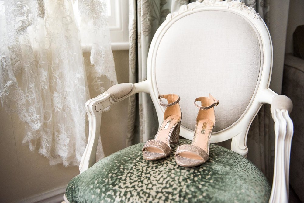 Gorgeous and sparkly Miss KG wedding shoes © Jessica Grace Photography