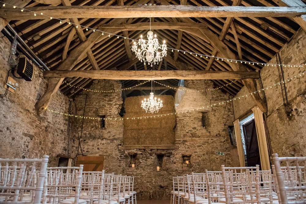 Rustic barn setting for Lake District wedding © Jessica Grace Photography