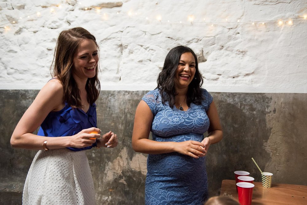 Fun wedding ideas, beer pong entertainment  © Jessica Grace Photography