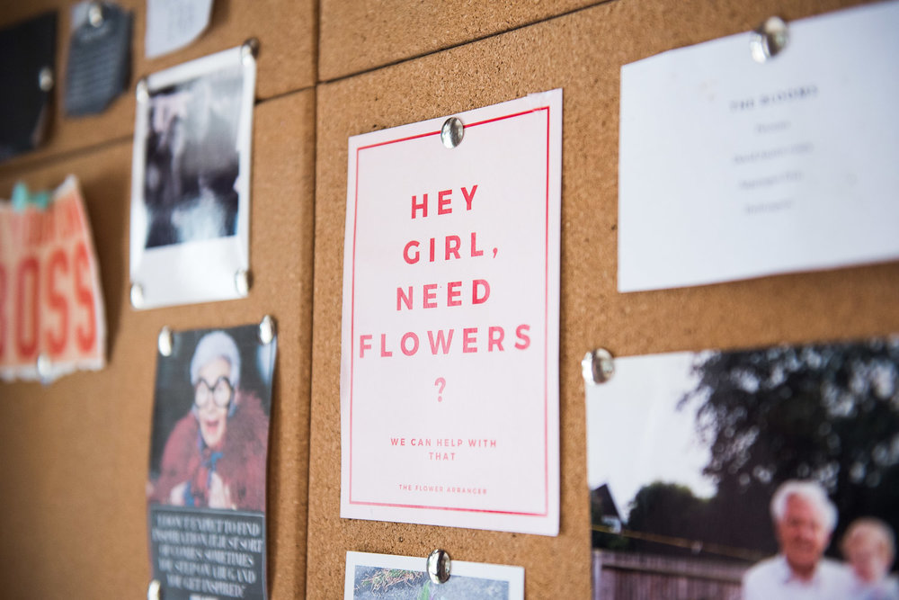 Cute postcard - Hey Girl Need Flowers? © Jessica Grace Photography