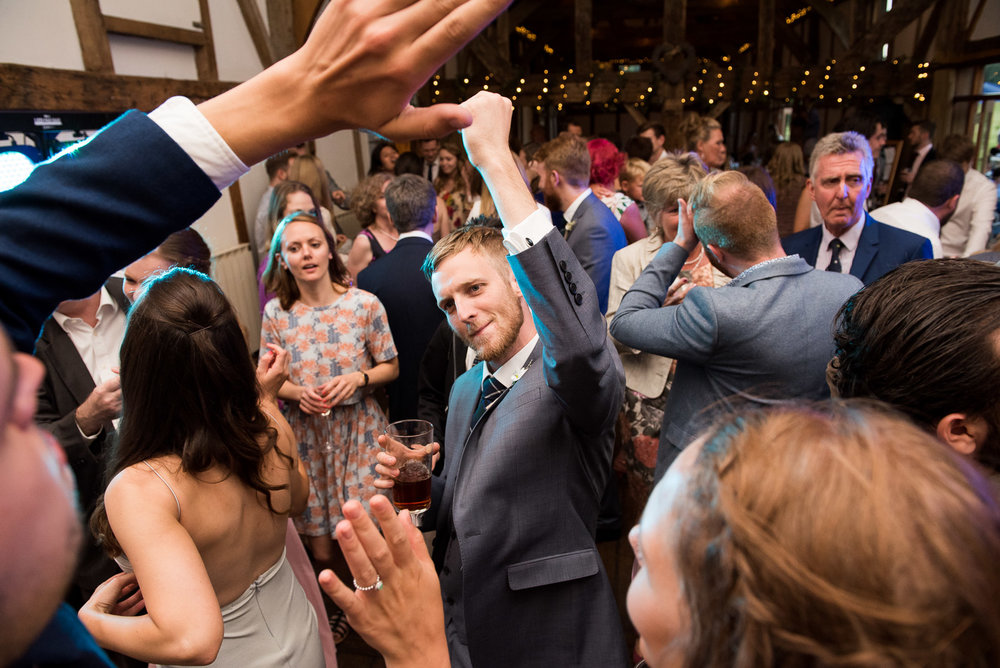 Enthusiastic fun lively wedding dance floor © Jessica Grace Photography
