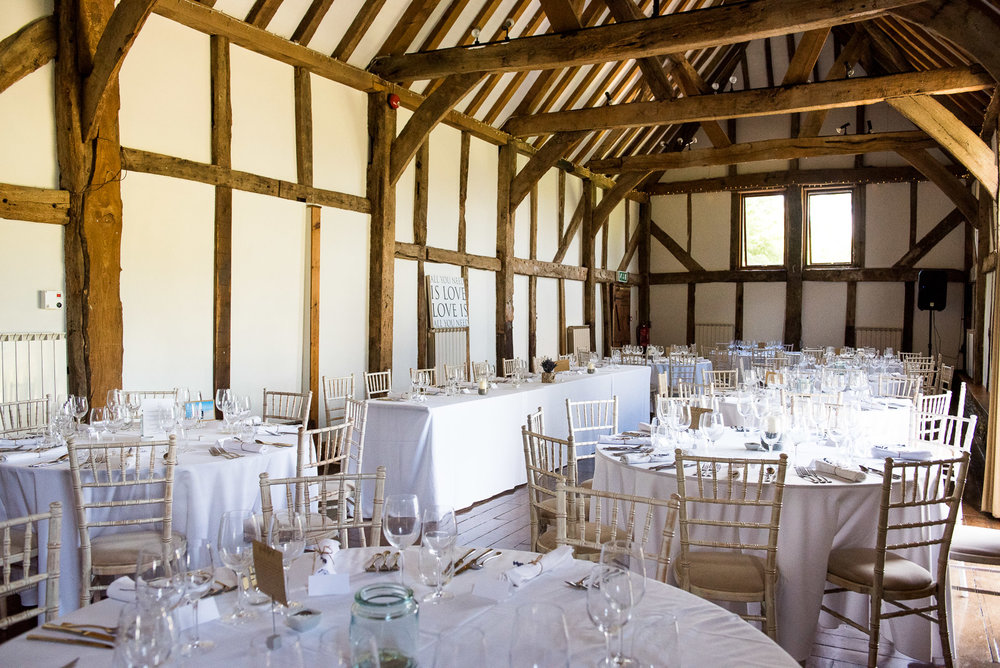 Fantastci barn venue at Loseley Park Surrey © Jessica Grace Photography