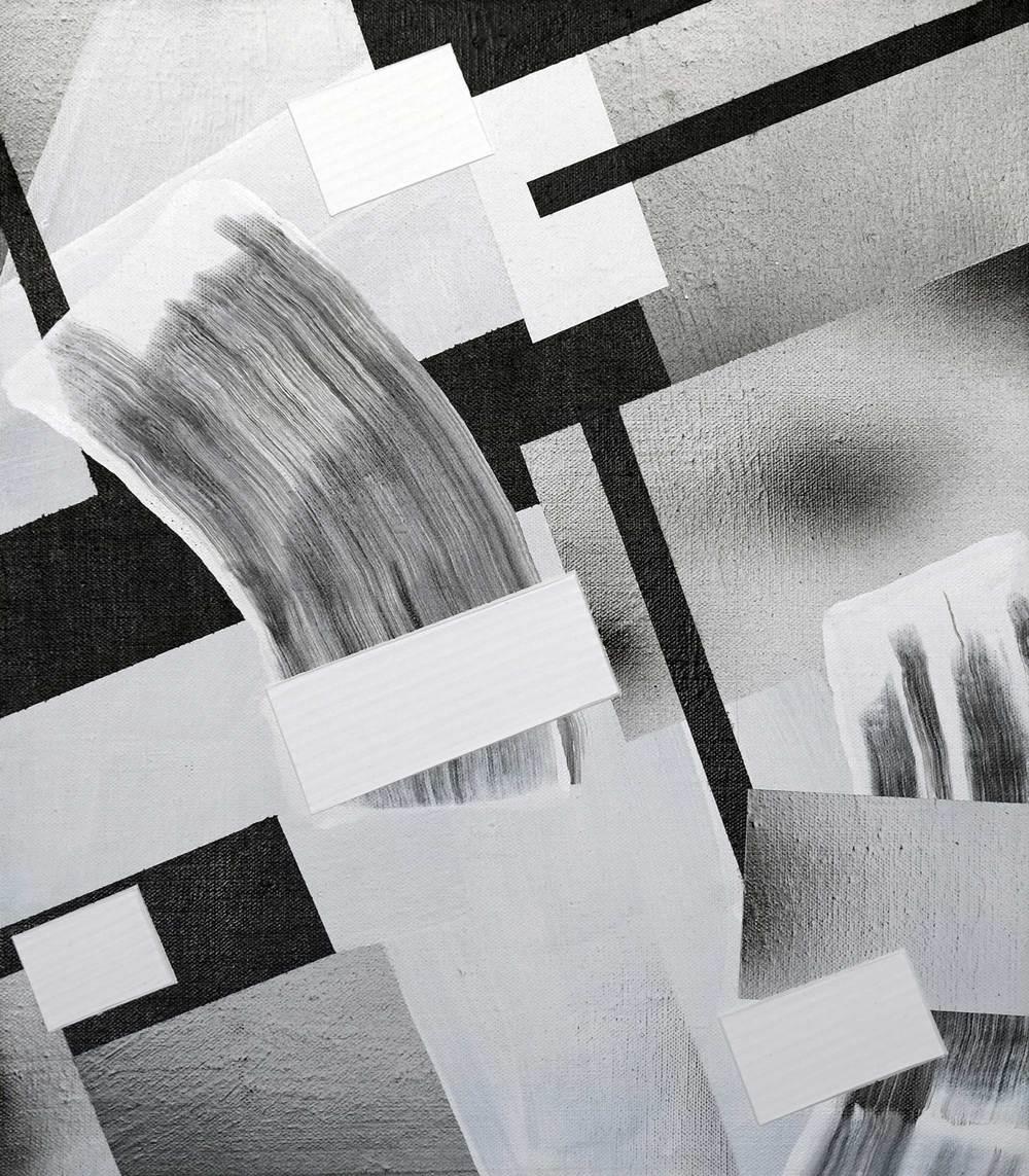 "43 Eridani, acrylic / airbrush /  gesso on linen , 16"" x 14"""