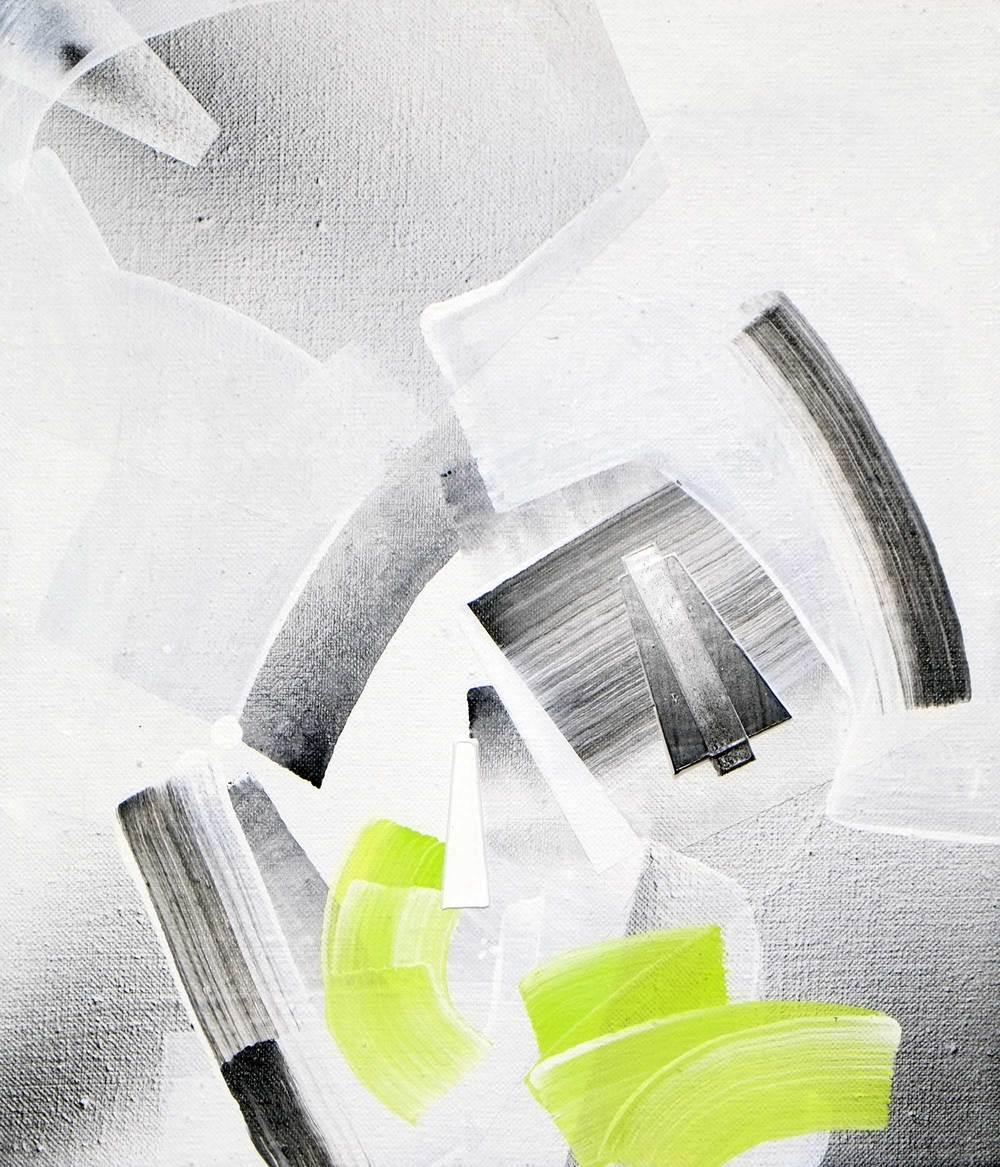 "Tau Herculis, acrylic / airbrush /  gesso on linen , 14"" x 12"""