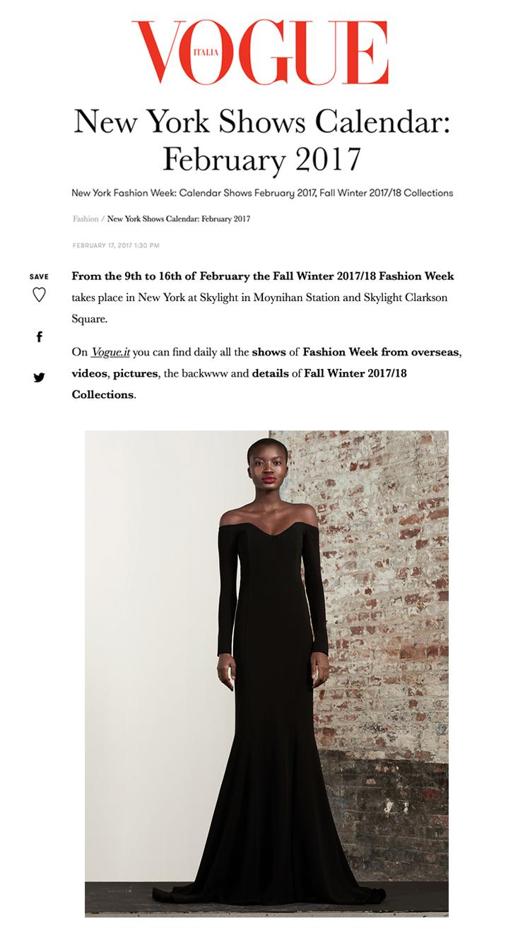 Vogue-Italia-17 New York Shows Calendar_February 2017