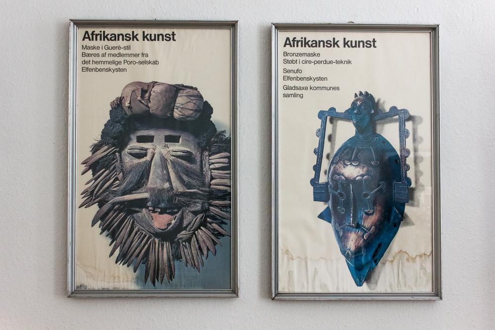 Disse afrika-plakater har Ida fundet i storskrald, og deres patina gør dem da kun endnu federe?! De måtte gerne hænge hjemme hos mig!