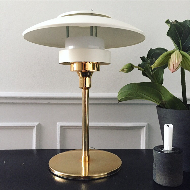 Retro messing lampe