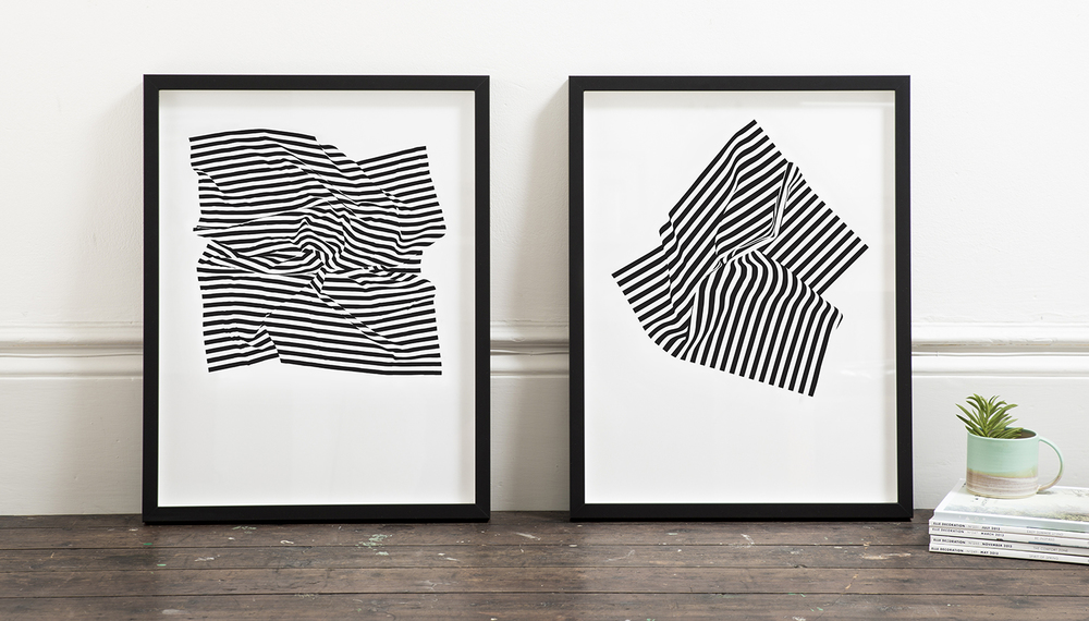 Between the lines prints