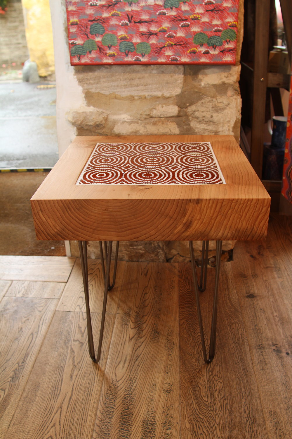 Bay Gallery Home   My Country Table Australian Aboriginal Art UK Central  Desert Made In The