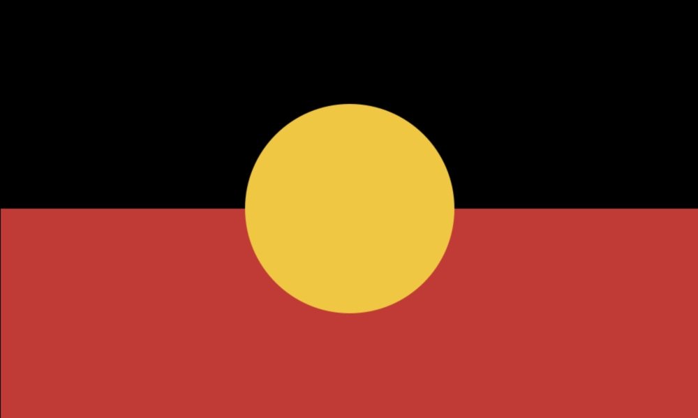 The flag was designed in 1971 by Aboriginal artist Harold Thomas. It is now an 'Official Flag of Australia', but was originally created for the land rights movement, establishing the inherent Aboriginal right to land.