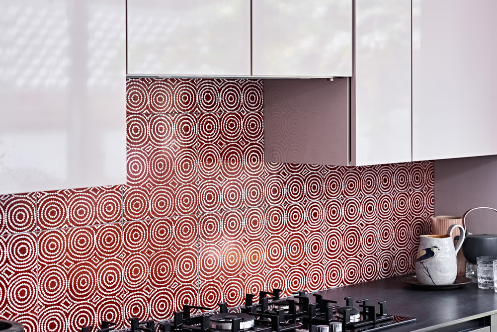 Bay Gallery Home's Bush Onion 1 tile, expertly manufactured by  Johnson Tiles.