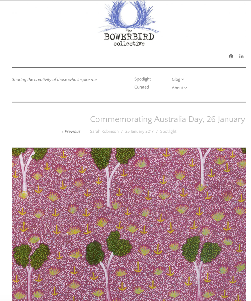 Bay Gallery Home, My Country, Australian Aboriginal Art and Interiors Wallpaper, Tiles & Rugs. Australia Day.