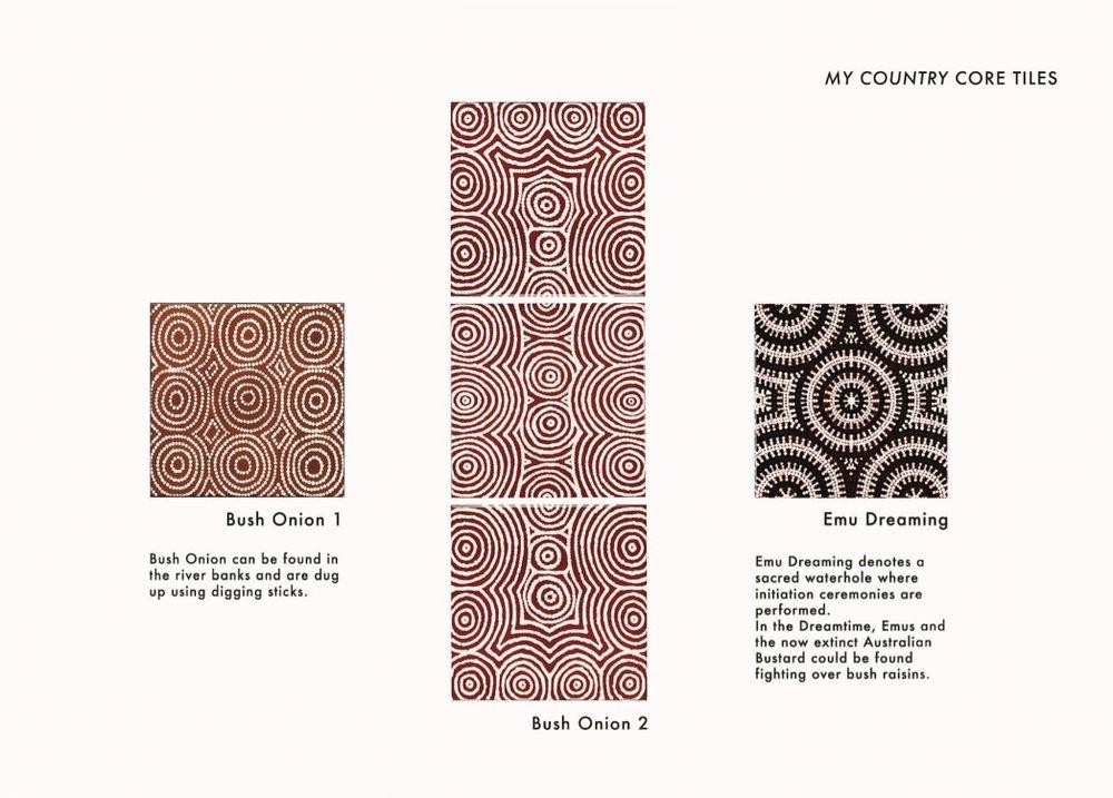 Our inaugural Australian Aboriginal Art Wall Tiles, from original artworks.