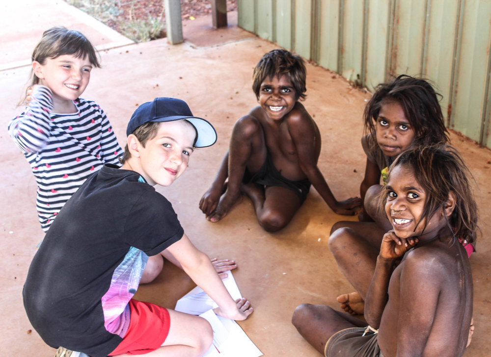 Australian Aboriginal Children Play Art Centre Central Desert Bay Gallery Home UK