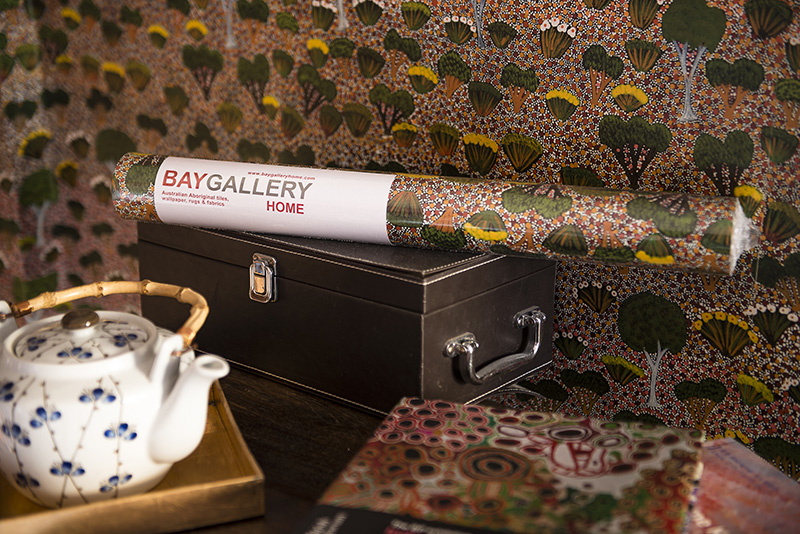Bay Gallery Home's My Country Interior wallpapers, ceramic wall tiles & rugs are a very first in the history of interior design, bringing this beautifully versatile, intricate & joyful aesthetic into interior spaces and decors.