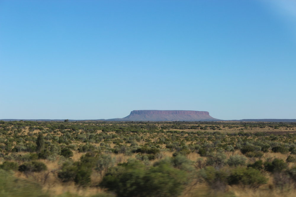 Mount Conner, also called 'Fool-uru' by locals for so often being mistaken for Uluru..