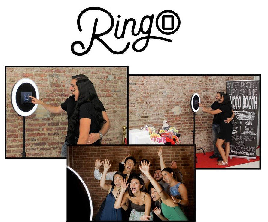 RingO - The RingO is our newest open-air photobooth option! It can take pictures, GIFs, and Boomerangs that you can send to your friends via text message! Similar to our other photobooth options, the RingO also prints photo strips for you and your guests.$595