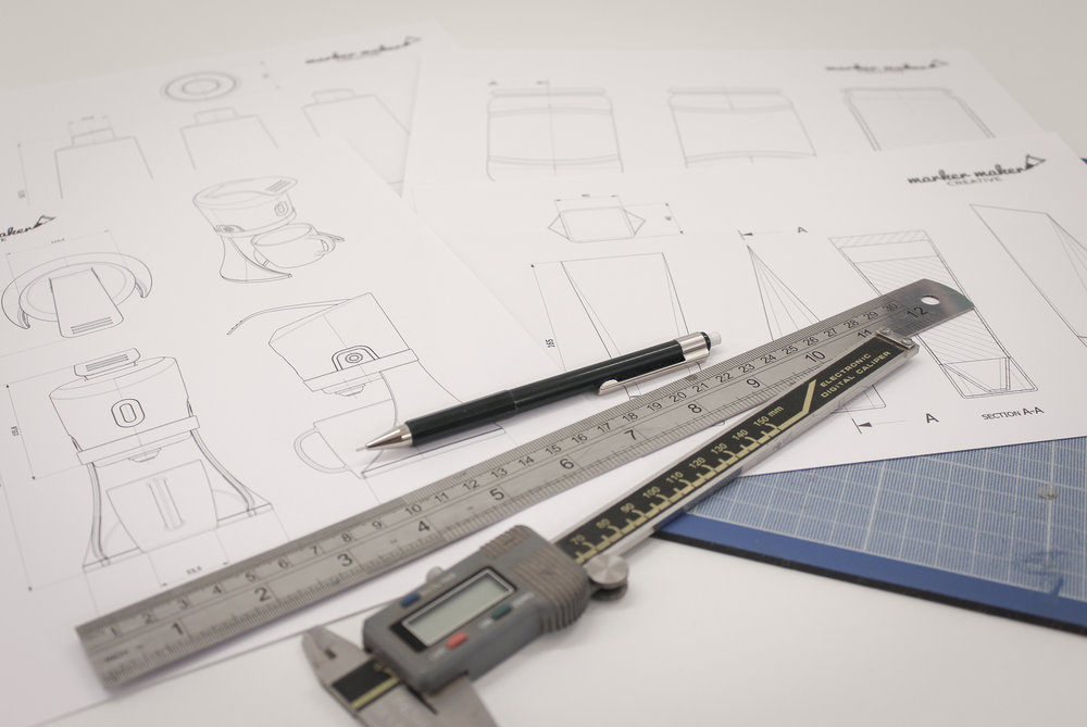 We can output 2D drawings of your concept ideas to help evaluate form, scale and proportion